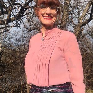 Vintage Macy's Pink Secretary Blouse